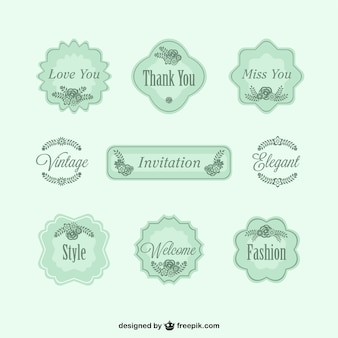 Green elegant labels