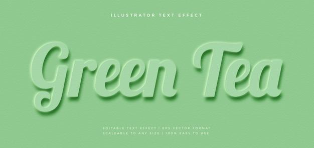 녹색 엠 보스 모노톤 텍스트 스타일 글꼴 효과