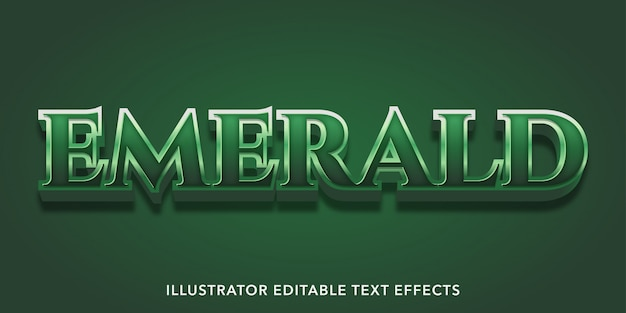 Green emerald text effect