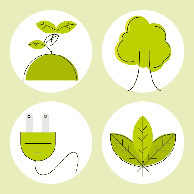 Зеленая энергия и символы экологии