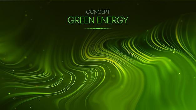 Концепция зеленой энергии. вектор зеленый фон технологии. футуристическая векторная иллюстрация.