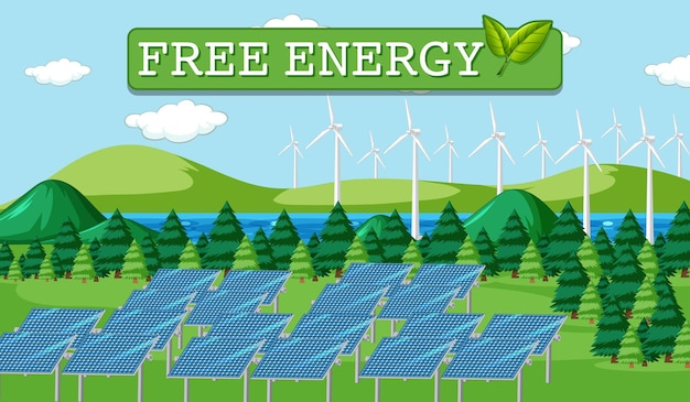 태양광 패널에서 생성되는 녹색 에너지