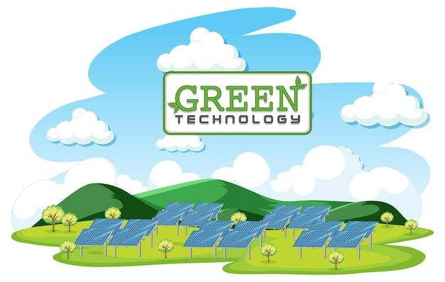 Зеленая энергия, генерируемая солнечными батареями