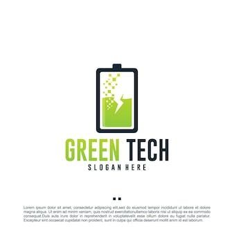 Зеленая энергия, шаблон дизайна логотипа
