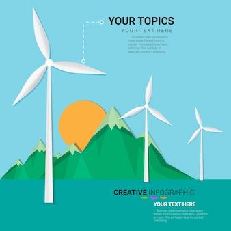 グリーンエネルギー、風力タービン。
