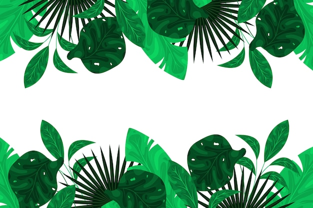 Green exoticleaves background flat design