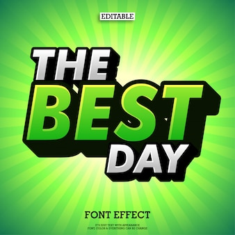 Green extrude font with sunburst green background Premium Vector