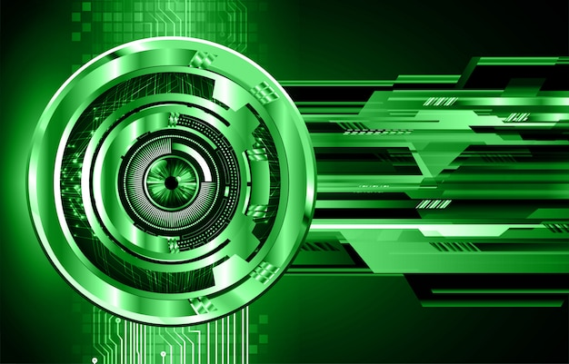 Green eye cyber circuit future technology background