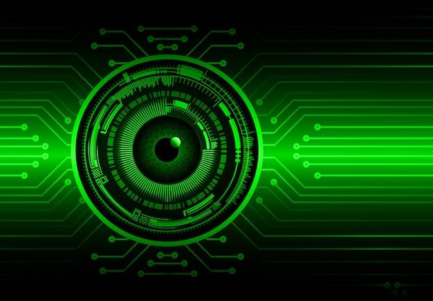 緑の目サイバー回路将来の技術コンセプトの背景