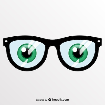 Green eyes and glasses