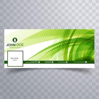Green facebook banner for timeline