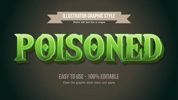 Green fantasy 3d cartoon game typography