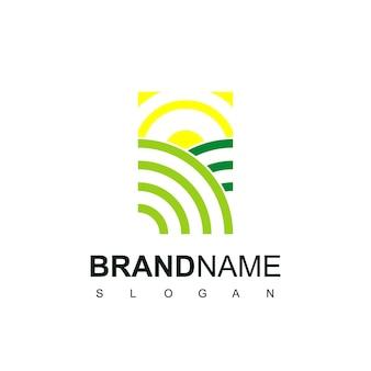 Дизайн логотипа зеленая ферма вдохновение