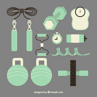 Green fitness elements pack