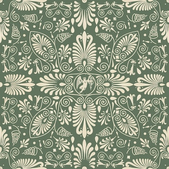 Green floral seamless pattern background