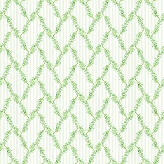 緑の花のシームレスなパターン