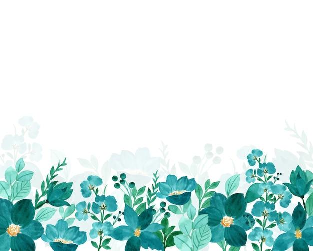 Зеленый цветочный акварель фон