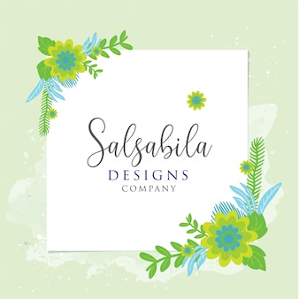 Green flowers cards