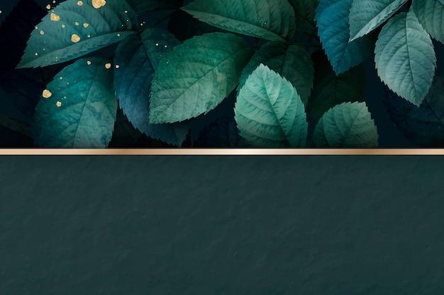 녹색 단풍 패턴 배경