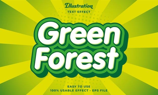 Редактируемый текстовый эффект green forest