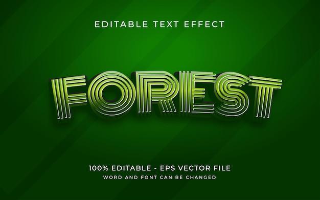 Зеленый лес текстовый эффект стиль редактируемый текстовый эффект