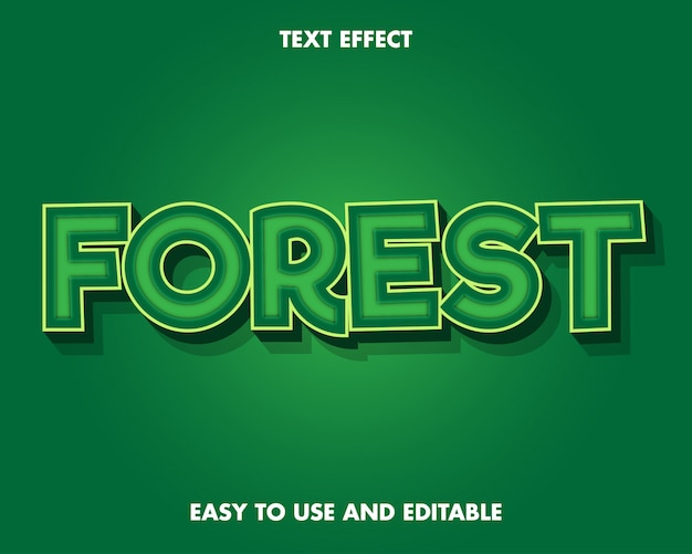 Green forest text effect.