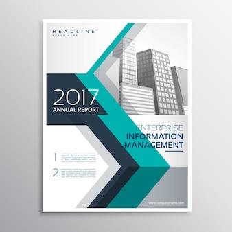 Elegante progettazione brochure rapporto annuale in formato a4