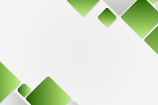 Green geometric frame vector