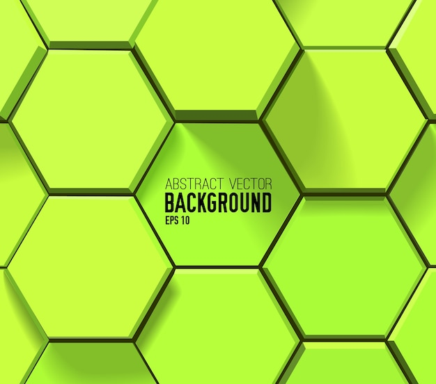 Green geometric hexagonal pattern