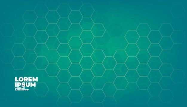 녹색 기하학적 육각형 디지털 기술 배경입니다.