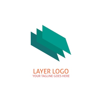 Green geometric logo