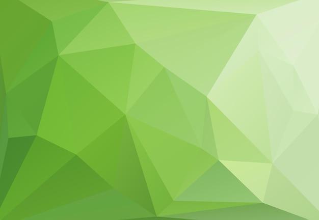 緑の幾何学的なポリゴンの背景
