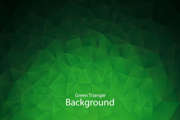 Green geometric triangle background