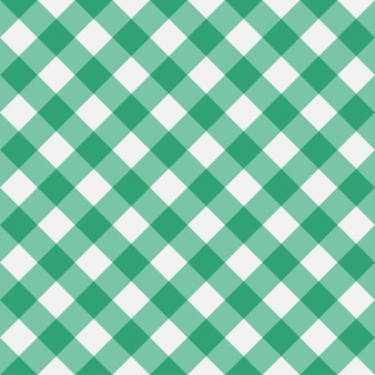 Green gingham seamless pattern diagonal stripes texture from rhombus for plaid tablecloths
