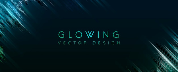 Green glowing neon background vector