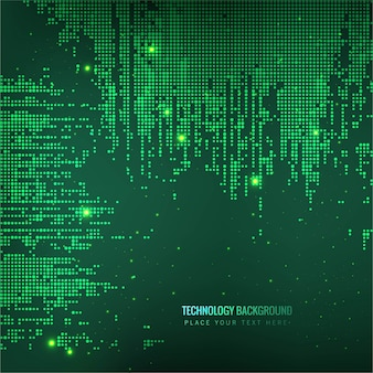 Green glowing technology background