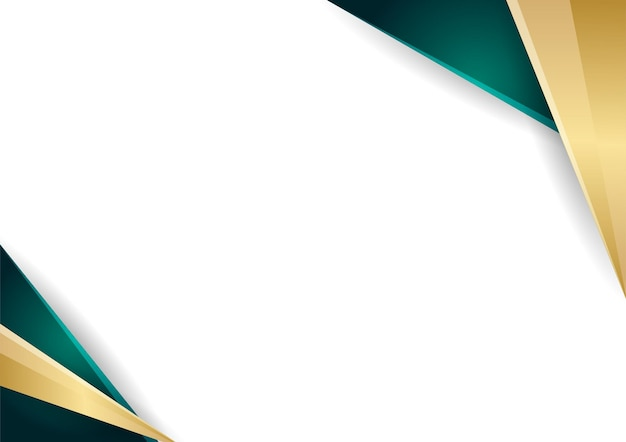 Green and gold abstract geometric background gradient color certificate template. suit for presentation background, banner, poster, flier, cover, business card and much more