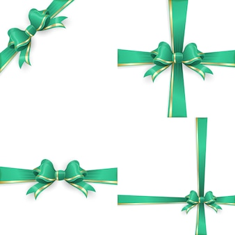 Green gold bow templates.