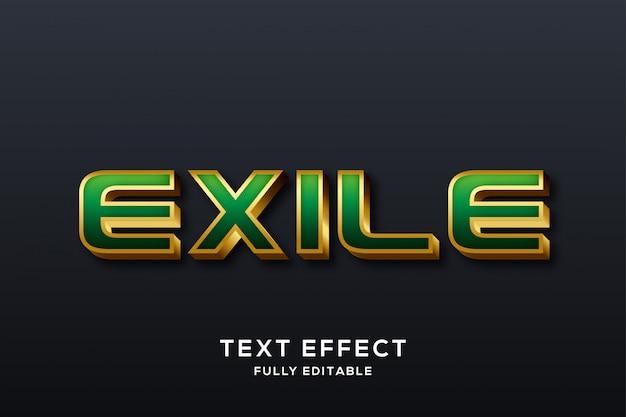 Green & gold modern text effect