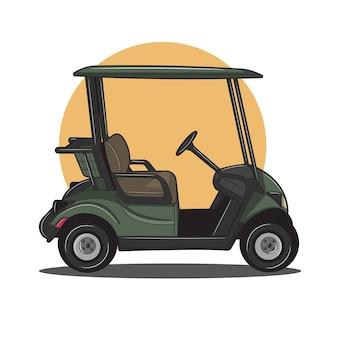 녹색 골프 카트 그림