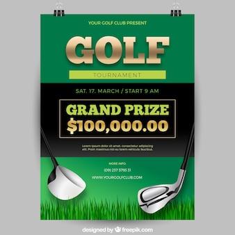Green golf tournament poster