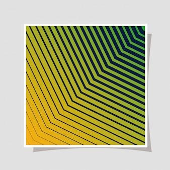 緑のグラデーションと縞模様の背景、カバーデザイン。