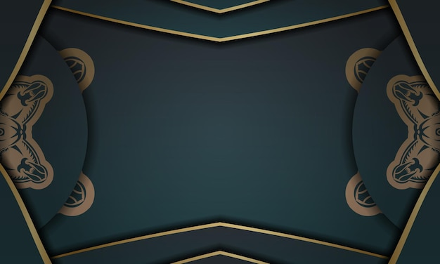 Green gradient banner with abstract gold pattern and place under your logo or text