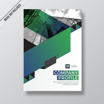 Green gradient modern style design company profile template