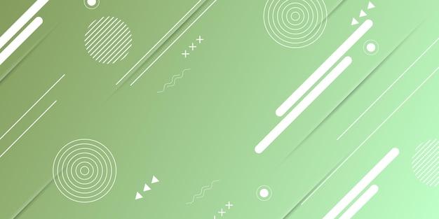 Зеленая текстура градиента с элементами мемфиса. новый дизайн для вашего бизнеса. векторная иллюстрация.