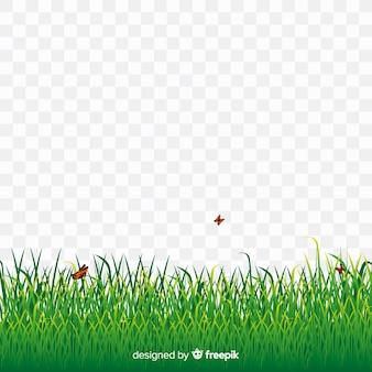 Зеленая трава баннер реалистичный стиль