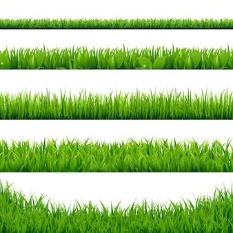 Большой набор зеленой травы