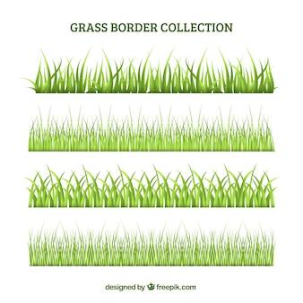 Set confine erba verde