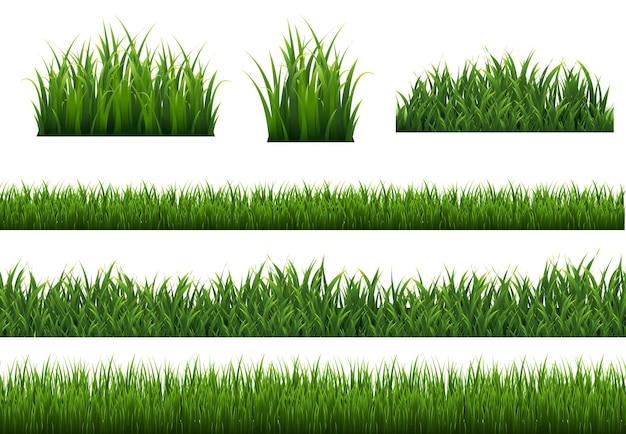 緑の草の境界