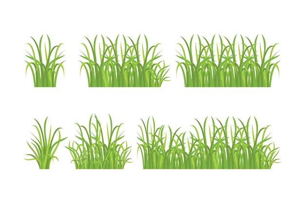 Green grass pattern set